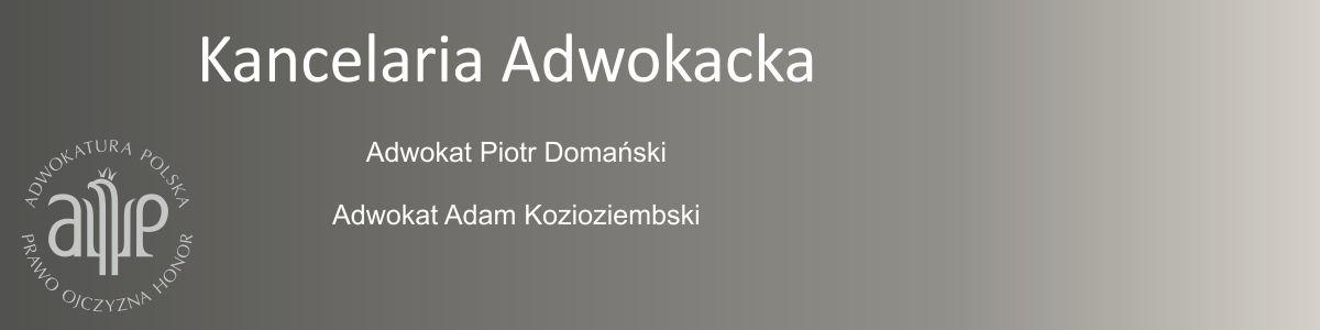 Kancelaria Adwokacka Domański & Kozioziembski